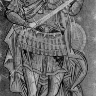 Св. Георгий. Фреска церкви в Куртя-де-Арджеше. 16 век