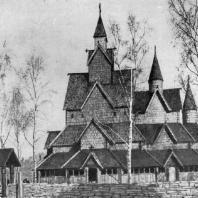Церковь в Хеддале (Heddal stavkyrkje). Середина 13 века. Вид с юга