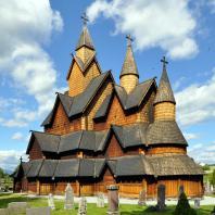 Церковь в Хеддале (Heddal stavkyrkje). Середина 13 века