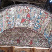 Роспись свода над алтарем церкви в Торпо. Середина 13 века