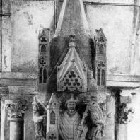 Скульптурное украшение триумфальной арки в церкви в Карья на острове Сарема. 14 век