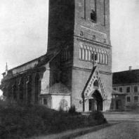 Церковь Яани в Тарту. 14 век. Вид с северо-запада