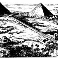 Пирамиды в Гизэ. Реконструкция