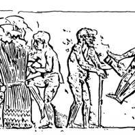 Сбор папируса. Рельеф из Меира