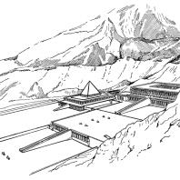 Храм царицы Хатшепсут в Деир-эль-Бахри. Реконструкция