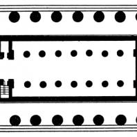 План храма Посейдона в Пестуме