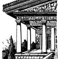 Этрусский храм. Реконструкция