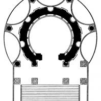 План Круглого храма в Баальбеке