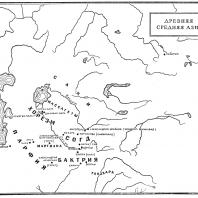 Карта: Древняя средняя Азия