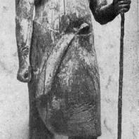 Статуя царевича Каапера из его гробницы в Саккара. Дерево. V династия. Середина 3 тыс. до н. э. Каир. Музей