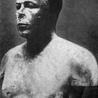 Бюст царевича Анххафа из гробницы в Гизэ. Известняк. IV династия. Первая половина 3 тыс. до н. э. Бостон. Музей изящных искусств