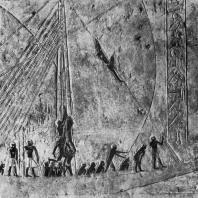 Ладья с матросами. Рельеф из гробницы времени V династии. Середина 3 тыс. до н. э. Париж. Лувр