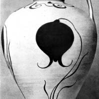 Ваза с тюльпаном из Филакопи на острове Мелосе. Глина. Середина 2 тысячелетия до н. э. Афины. Национальный музей