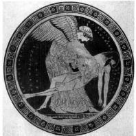 Дурис Эосс с телом Мемнона. Роспись килика. Около 490—480 гг. до н. э. Париж. Лувр