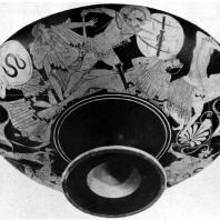 Бриг. Взятие Трои. Роспись килика. Около 490—480 гг. до н. э. Париж. Лувр