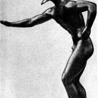 Бегун. Бронзовая статуэтка из Олимпии. Первая четверть 5 в. до н. э. Тюбинген. Университет