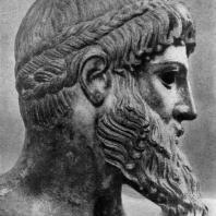 Зевс Громовержец. Голова. Около 460 г. до н. э. Афины. Национальный музей
