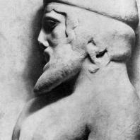 Голова Атласа. Фрагмент метопы храма Зевса в Олимпии
