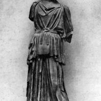 Мирон. Афина. Середина 5 в. до н. э. Мраморная римская копия с утраченного бронзового оригинала. Франкфурт