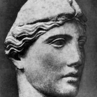Круг Мирона. Голова Афины. Мрамор. Середина 5 в. до н. э. Рим. Музей Баррокко