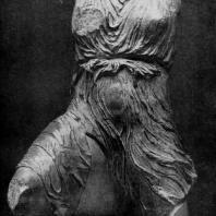 Фидий и его ученики. Ирида с западного фронтона Парфенона, Мрамор. Лондон. Британский музей