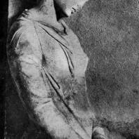 Надгробие Мнесарете из Афин. Фрагмент. Мрамор. Начало 4 в. до н. э. Мюнхен. Глиптотека