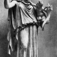 Кефисодот. Эйрена с Плутосом. Около 370 г. до н. э. Мраморная римская копия с утраченного оригинала. Мюнхен. Глиптотека