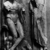 Скопас. Надгробие юноши с реки Илисса. Мрамор. Афины. Национальный музей