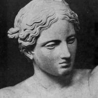 Пракситель. Аполлон Сауроктон. Голова. Третья четверть 4 в. до н. э. Мраморная римская копия с утраченного оригинала. Рим. Ватикан