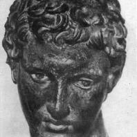 Юноша из Марафона. Голова. Бронза. Середина 4 в. до н. э. Афины. Национальный музей