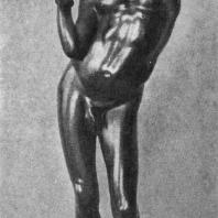 Мальчик-нубиец. Бронзовая статуэтка из Александрии. Париж. Национальная библиотека