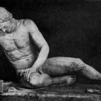 Умирающий галл. Конец 3 в. до н. э. Мраморная римская копия с утраченного оригинала. Рим. Капитолийский музей
