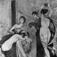 Сцена посвящения. Роспись Виллы мистерий близ Помпеи. Вторая половина 1 в. до н. э.