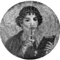 Поэтесса. Фреска из Помпеи. 1 в. н. э. Неаполь. Национальный музей