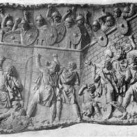 Колонна Траяна в Риме. Фрагмент рельефа