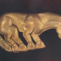 Золотая пантера из Келермесского кургана. 6. в. до н. э. Ленинград. Эрмитаж