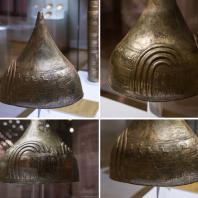 Бронзовый шлем с надписью урартского царя Аргишти I из раскопок Тейшебаини (Кармир-Блур). Первая половина 8 в. до н. э. Ереван. Исторический музей