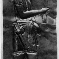 Сак. Золотая пластинка из Аму-Дарьинского клада. Длина 15 см. 4—3 вв. до н. э. Лондон. Британский музей