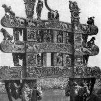Северные ворота ступы в Санчи. 1 в. до н. э.