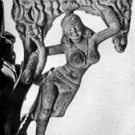 Якшини. Скульптура южных ворот ступы в Санчи. 1 в. до н. э.