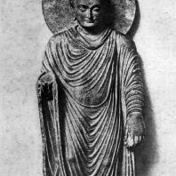 Статуя Будды из Гандхары. 2—3 вв. н. э. Лахор. Музей