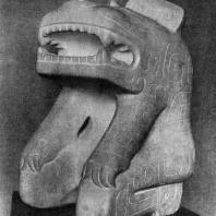 Статуя человека-тигра из Аньяна. Мрамор. Период Шан (Инь). 2 тыс. до н. э. Пекин. Музей Гугун
